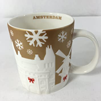 Gold Starbucks Holiday 2014Amazon Christmas Relief Mug Amsterdam N8mOvn0w