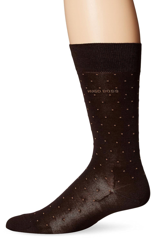 HUGO BOSS Men's Frank Dots Crew Sock Black 7-13/Shoe Size 6-12 HUGO BOSS Men's Socks 50289886