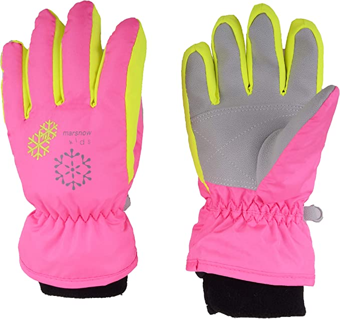 Kids Winter Warm Gloves For Skiing//Cycling Children Mittens For 3 To 6 Years Old