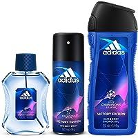 Adidas UEFA V Eau de Toilette, 100 ml + Shower Gel, 250 ml + Deodorant Body Spray, 150 ml