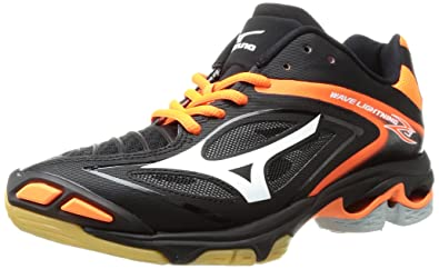 Mizuno Women's Wave Lighting Z3 Volleyball Shoe, Black/Orange, 9 B(M