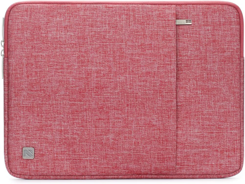"NIDOO 14 Inch Laptop Sleeve Water-Resistant Computer Case Portable Bag for 14"" Notebook / 14"" Lenovo ThinkPad E480 T470 E470 / Flex 6/13.5"" Microsoft Surface Book, Red"