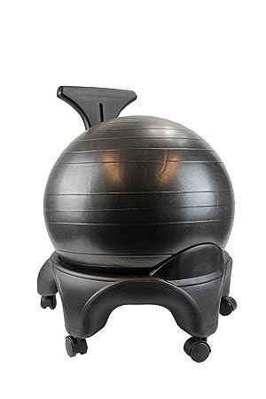 POWRX – Oficina Fitness – Silla con asiento de pelota Fitness – Ball chair con ruedas