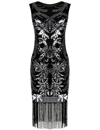 Black flapper dress xl