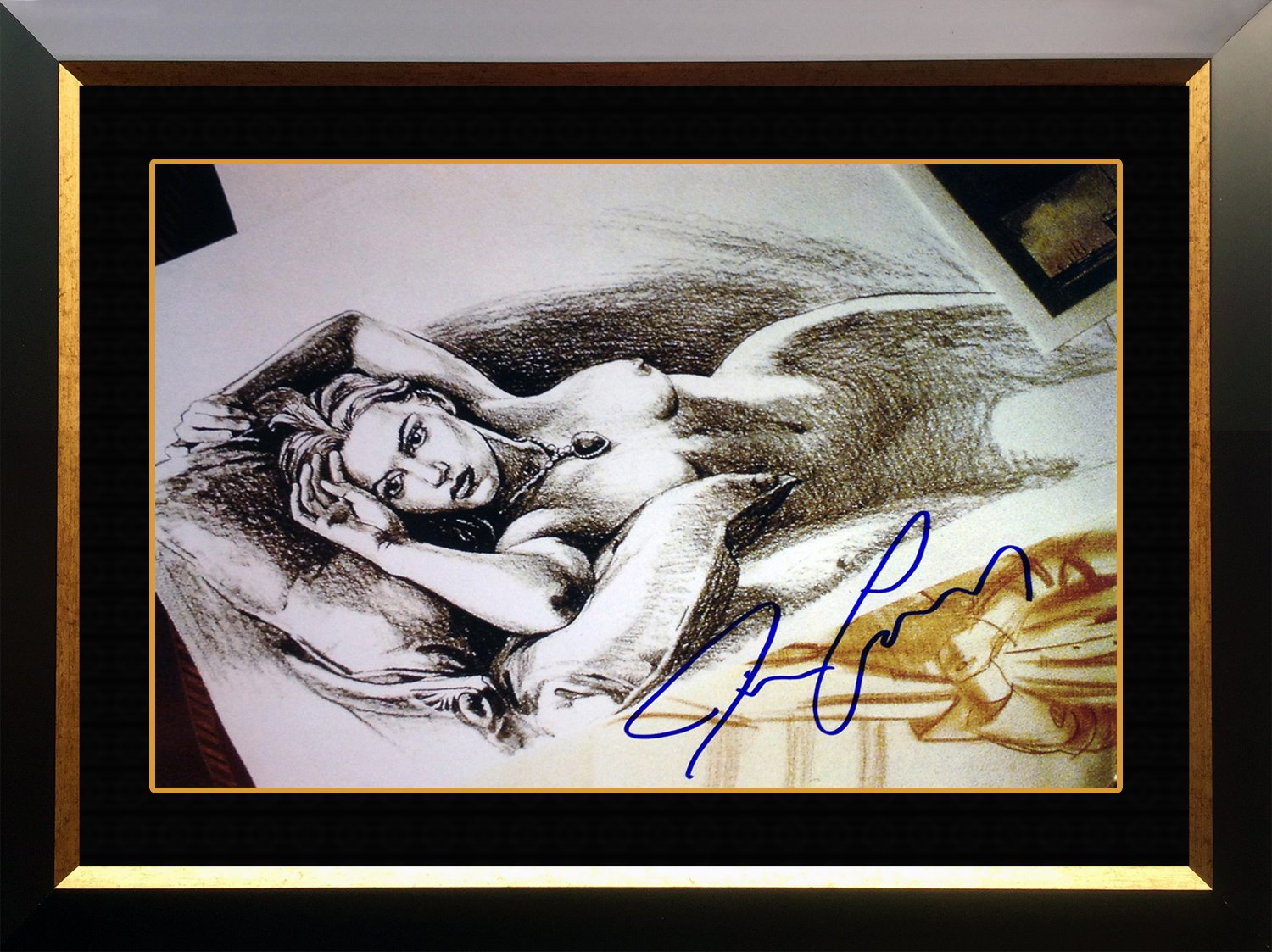 Titanicjacks Drawing Facsimile Signed By James Cameron Framed Photo 20x24 At Amazons Sports Collectibles Store