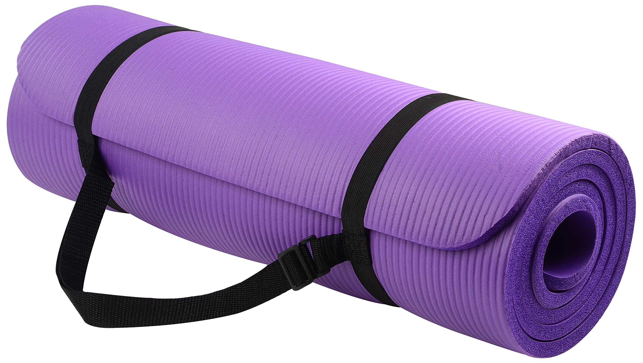 BalanceFrom BFGY-AP6PP Go Yoga All Purpose Anti-Tear Exercise Yoga Mat with Carrying Strap, Purple by BalanceFrom