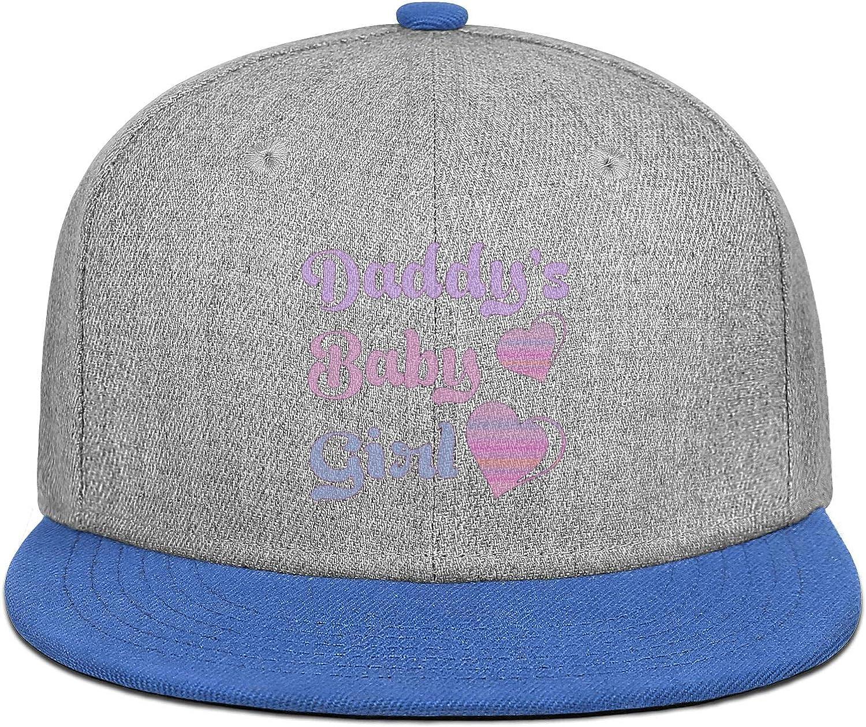 Daddys Baby Girl 2 Heart Mens Womens Wool Ball Cap Adjustable Snapback Beach Hat