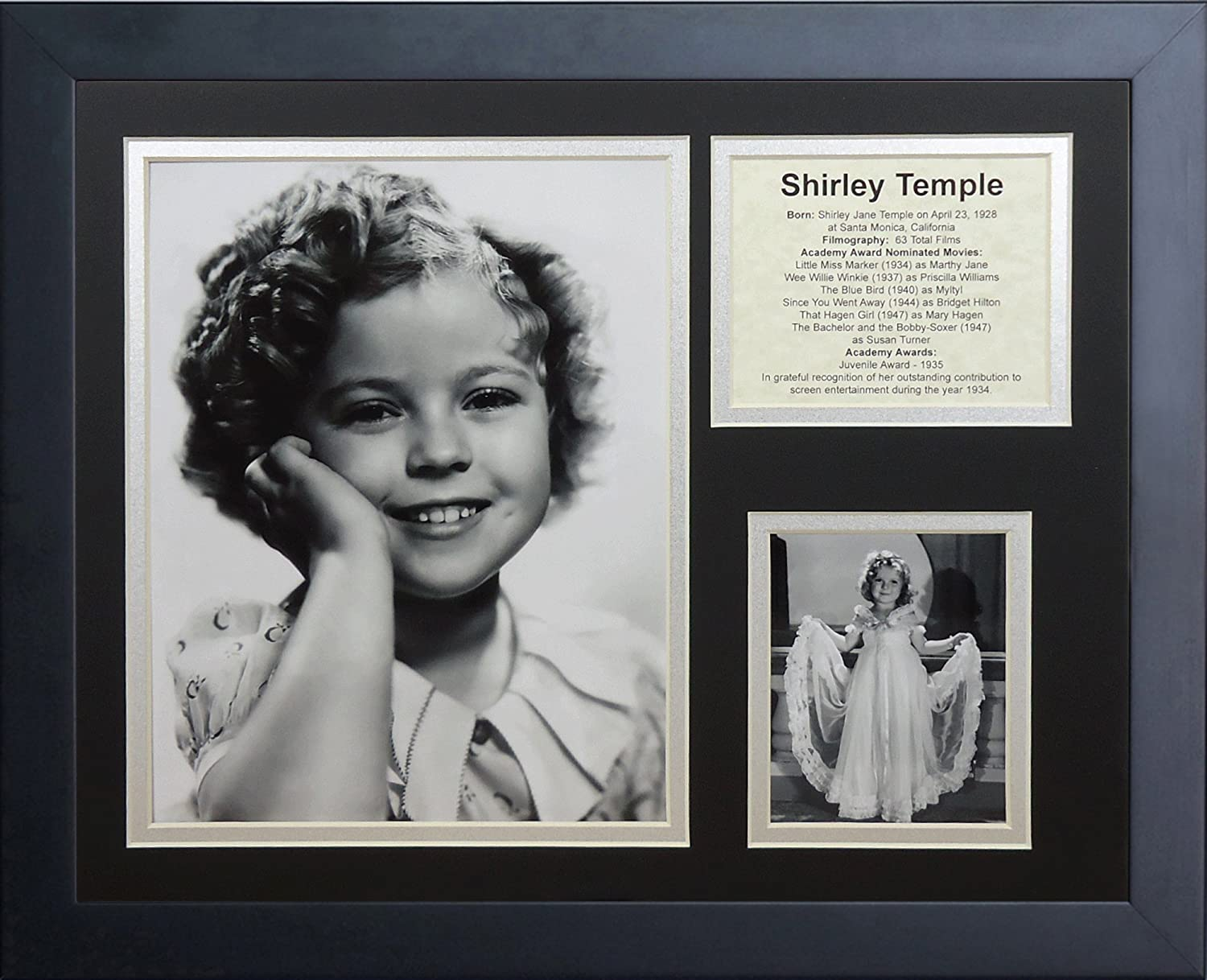 Legends Never Die Shirley Temple Framed Photo Collage 11 x 14-Inch