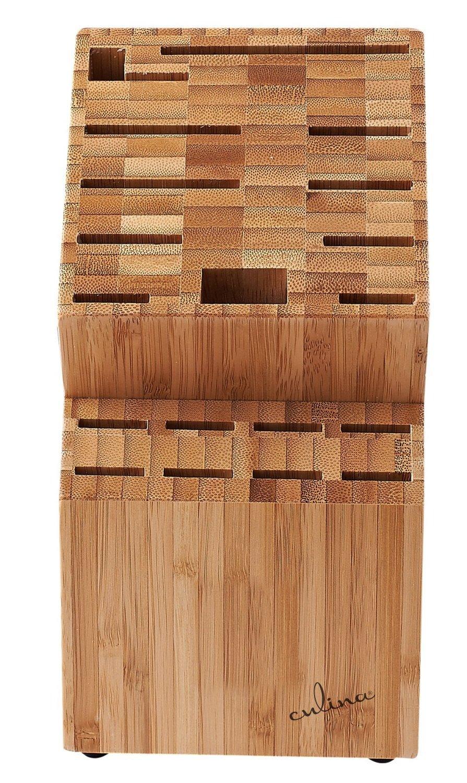Culina 20413 Bamboo Countertop Knife Block 19 Inserts