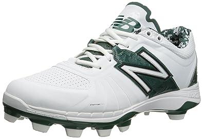 New Balance Men's PL4040V3 TPU Baseball Shoe, Black/White, 16 D US
