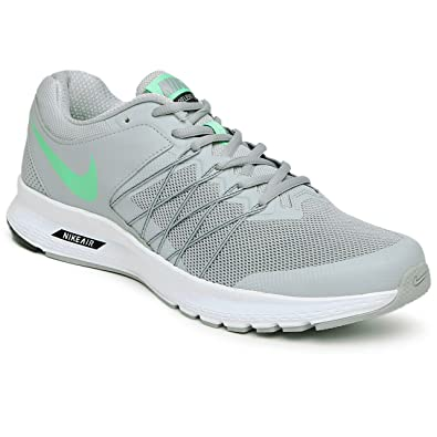 Nike Men's Wolf Grey Electro Green Black White Mesh Running Shoes -11