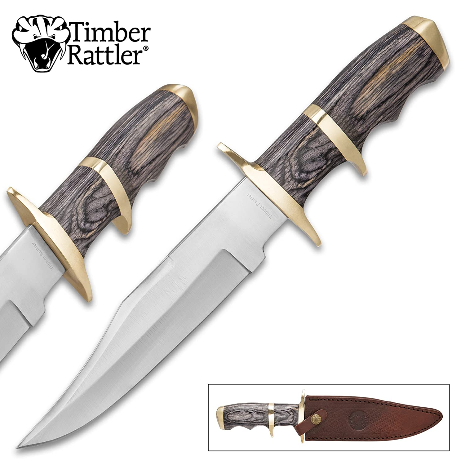 Timber Rattler Buffalo Joe Fixed Blade Knife with Sheath