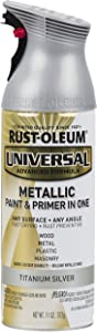 Rust-Oleum Available 245220 Universal All Surface Spray Paint, 11 oz, Metallic Titanium Silver