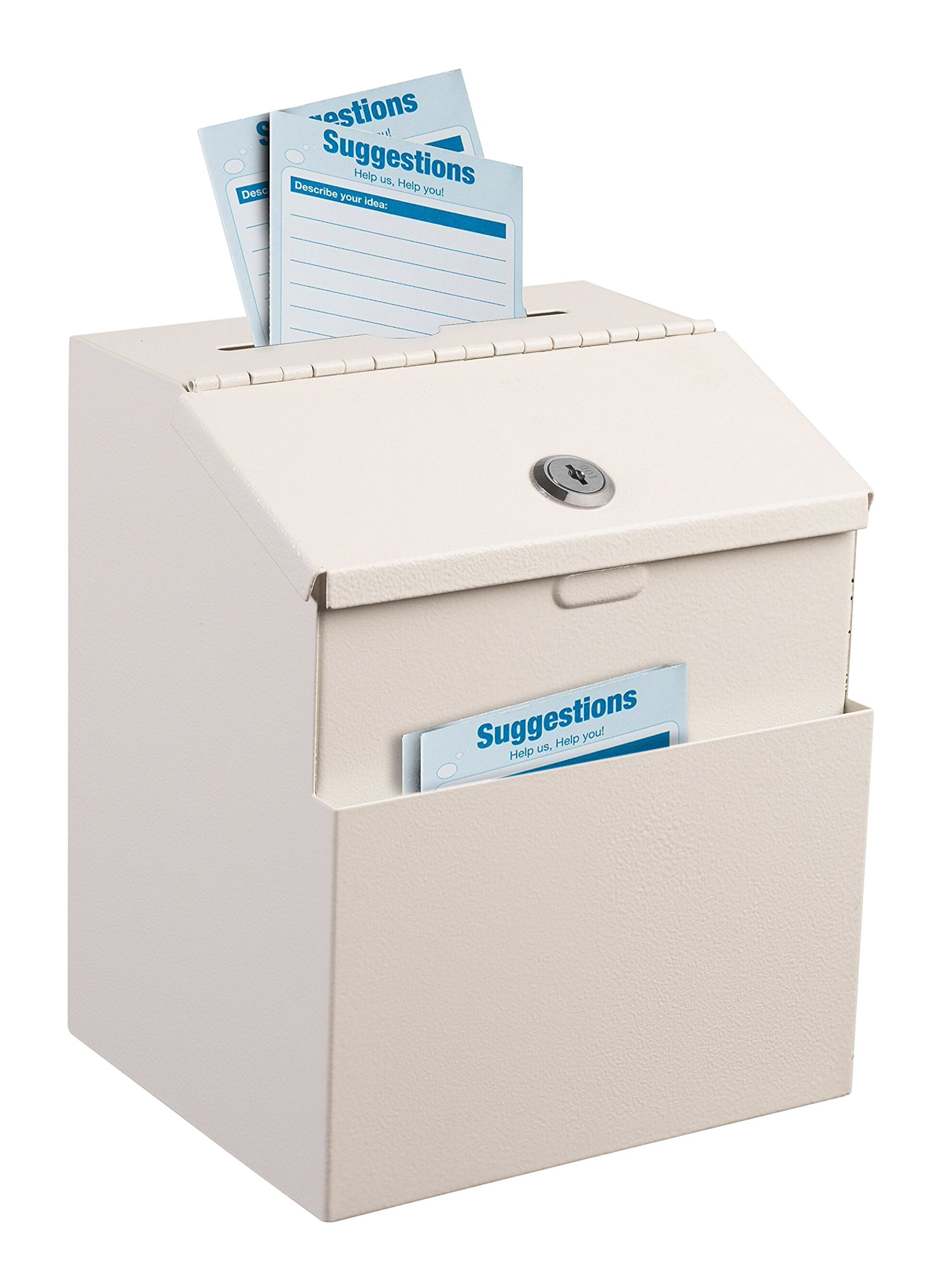 Adir Steel Suggestion Box with Lock (White) by Adir Corp.