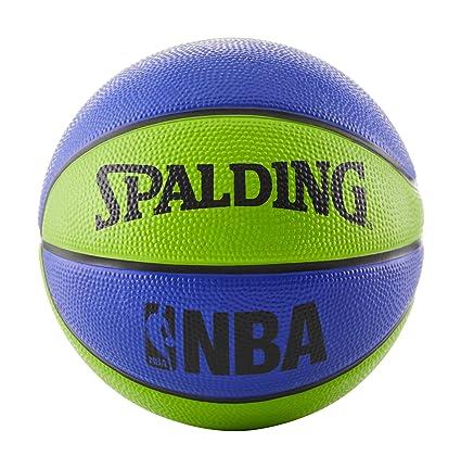 Amazon.com   Spalding NBA Mini Basketball - Blue Green   Sports ... e83c0f4a616be