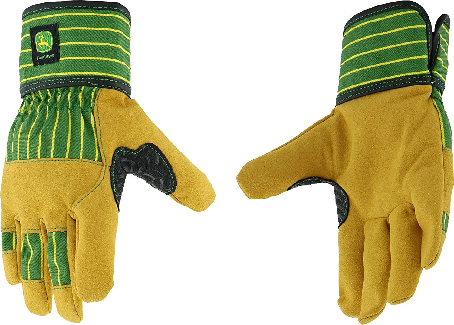 West Chester John Deere JD00024 Synthetic Leather Palm Work Gloves: Youth, 1 Pair