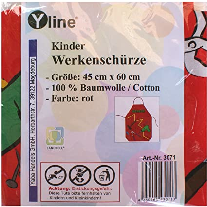 Yline 1 Pieza Ninos Delantal Rojo Unidades Ninos Manualidades