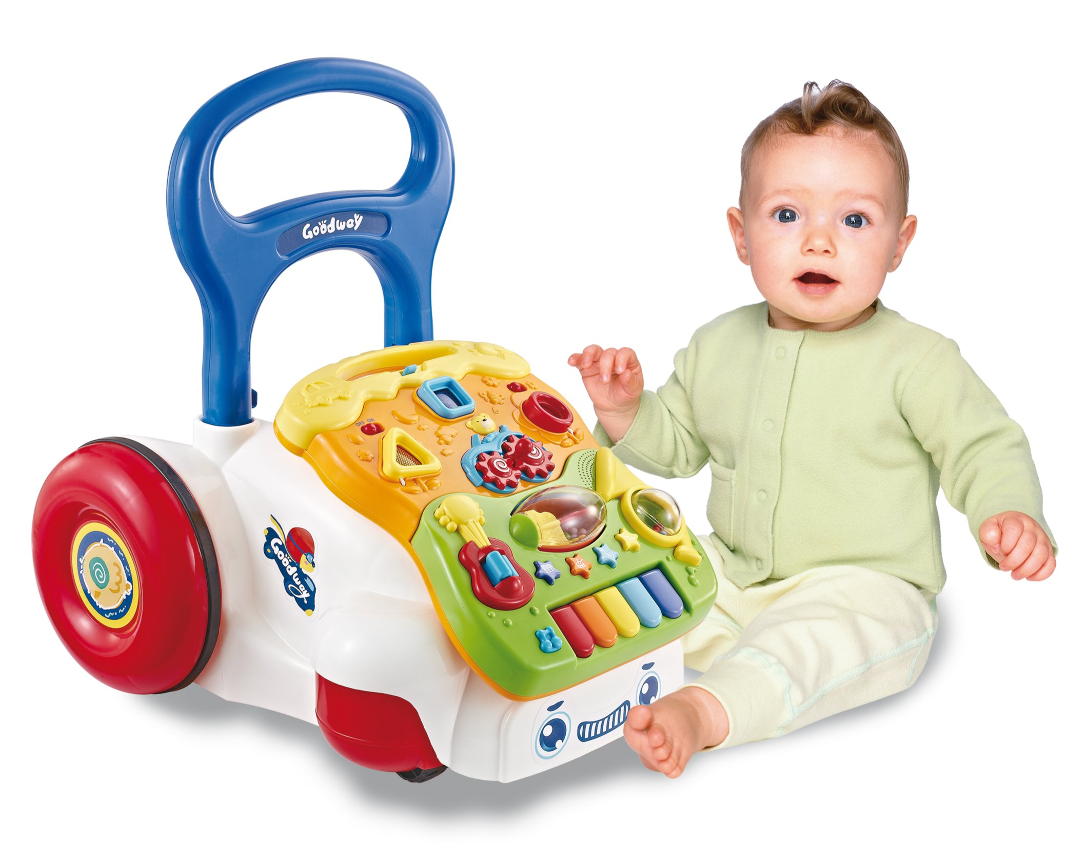 TotCraft sit-to- stand baby walker