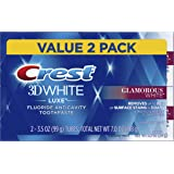 Crest Twin Pack 3D White Luxe Glamorous White Toothpaste, 3.5 Ounce