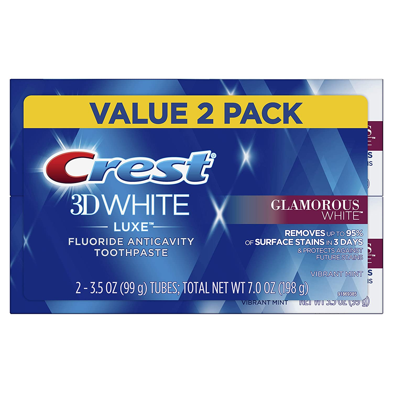 Amazon Com Crest Twin Pack 3d White Luxe Glamorous White