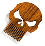 The Punisher Skull Logo Beard Care Kit - Beard Oil, Balm Conditioner, Mustache Comb, Wood Pocket Comb - Beard Gains