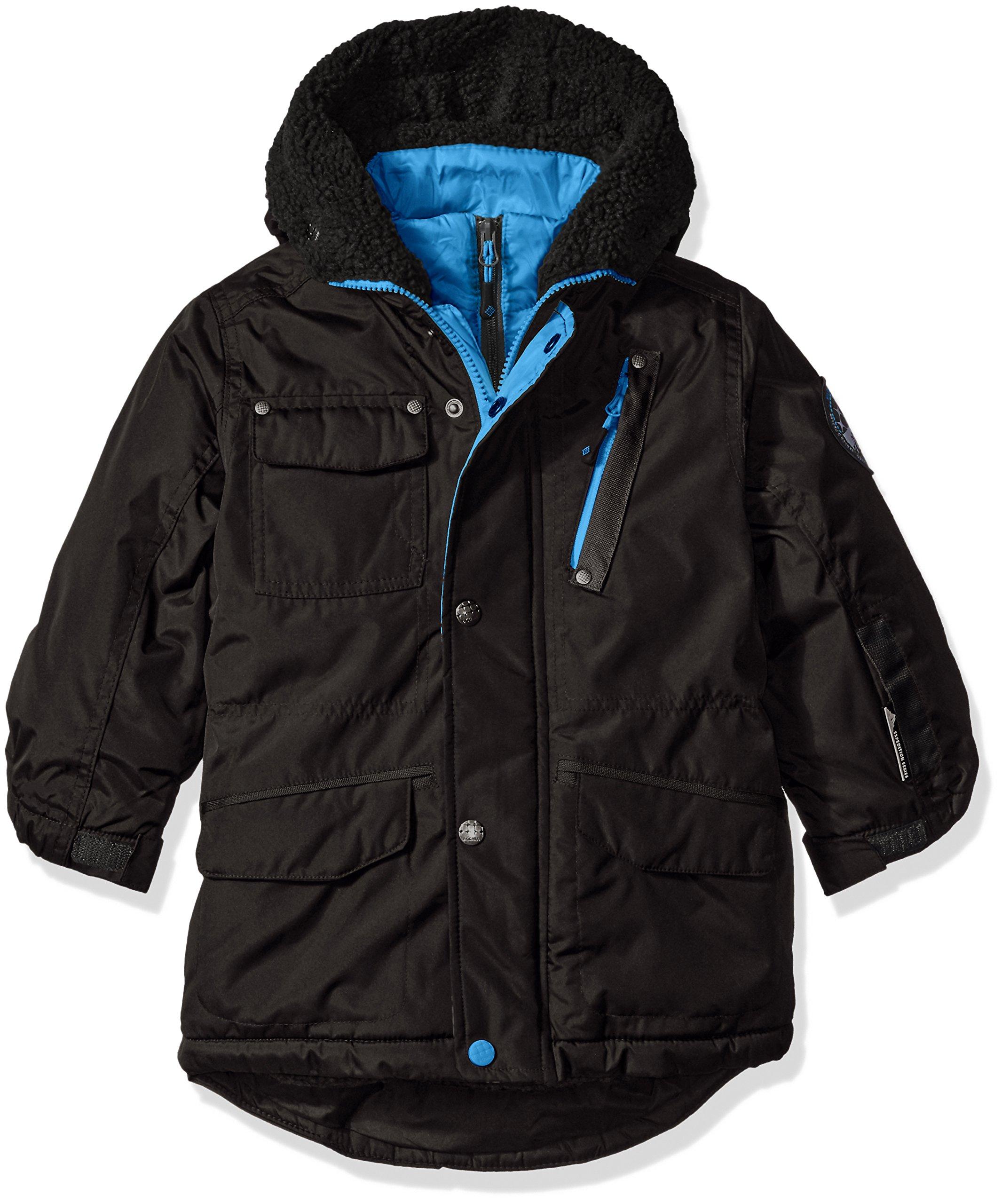 Big Chill Big Boys' Expedition Jacket with Vestee, Black, 10/12