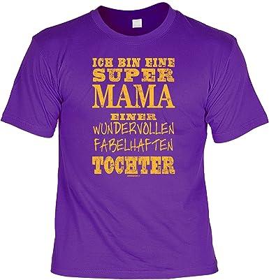 Shoppen Sie Mama / Mutter Sprüche T Shirt   Lustiges Funshirt : ... Super  Mama ... Fabelhaften Tochter    Geschenk T Shirt Mama Farbe: Lila Auf  Amazon.de:T  ...