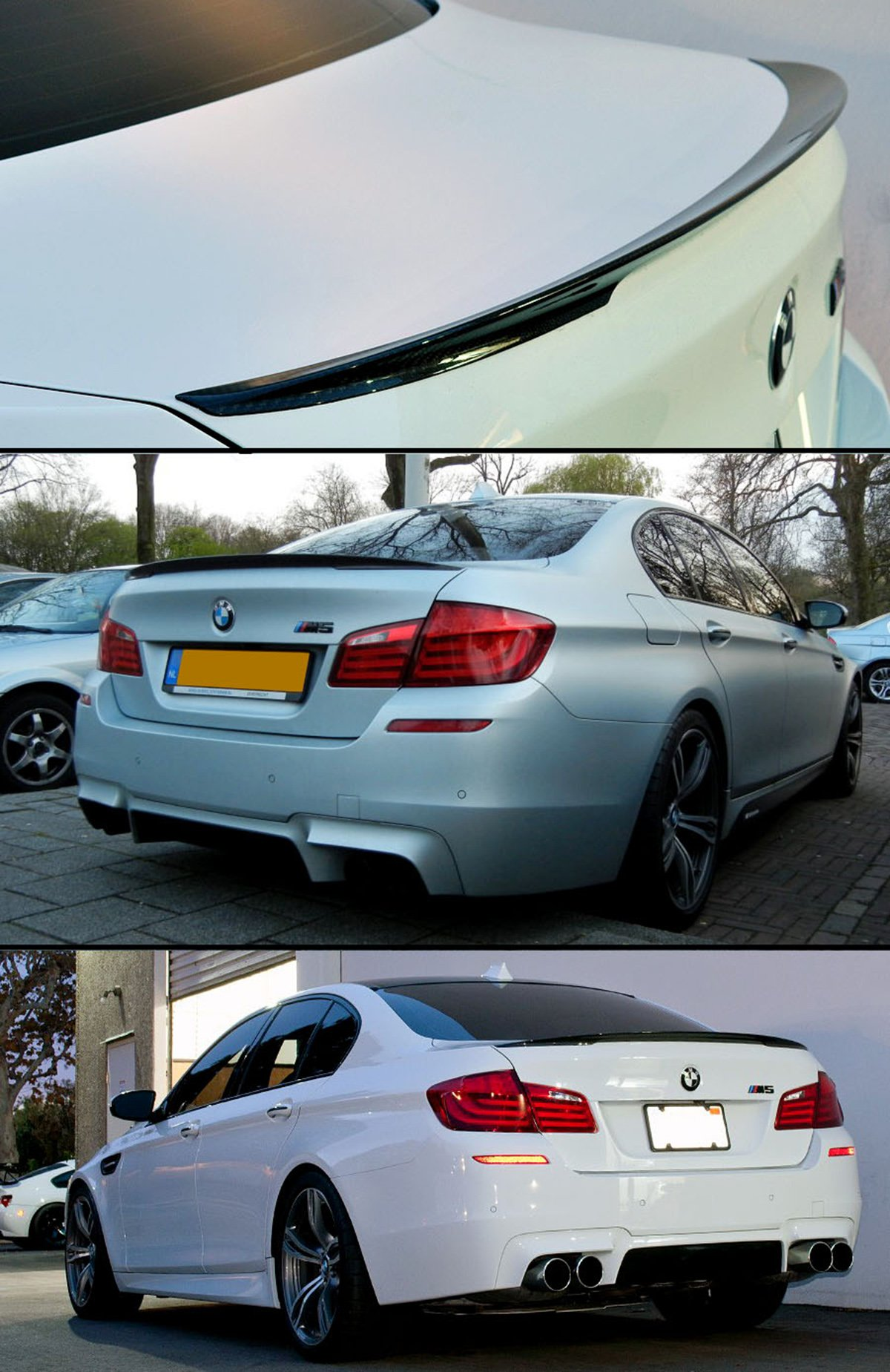 Cuztom Tuning for 2011-2016 BMW F10 5 Series 535i 528i & M5 Real Carbon Fiber Performance Style Trunk Lid Spoiler