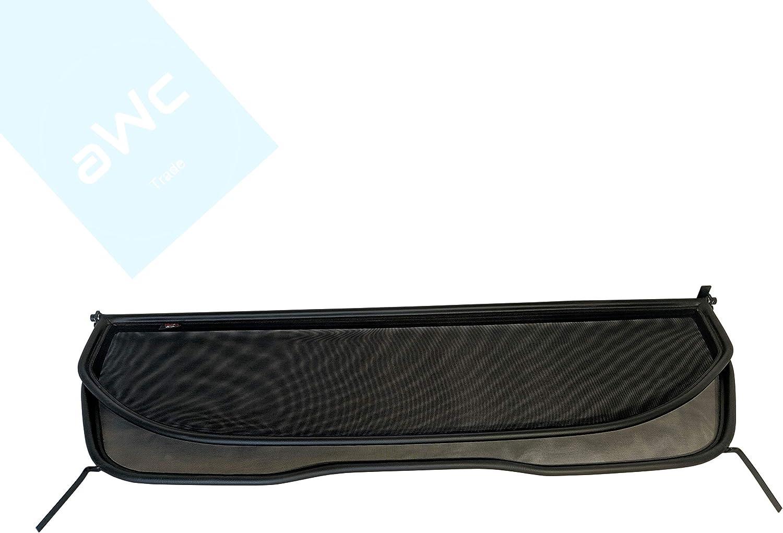 Schwarz Kunstleder Windschott Windabweiser Baujahr 2009 bis 2019 aWc Kompatible mit Peugeot 308 CC Cabrio Typ 3B