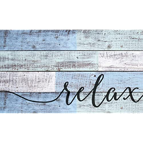 distressed wood wall art 2x4 wall p graham dunn relax distressed blue and white design 14 24 wood pallet wall art amazoncom