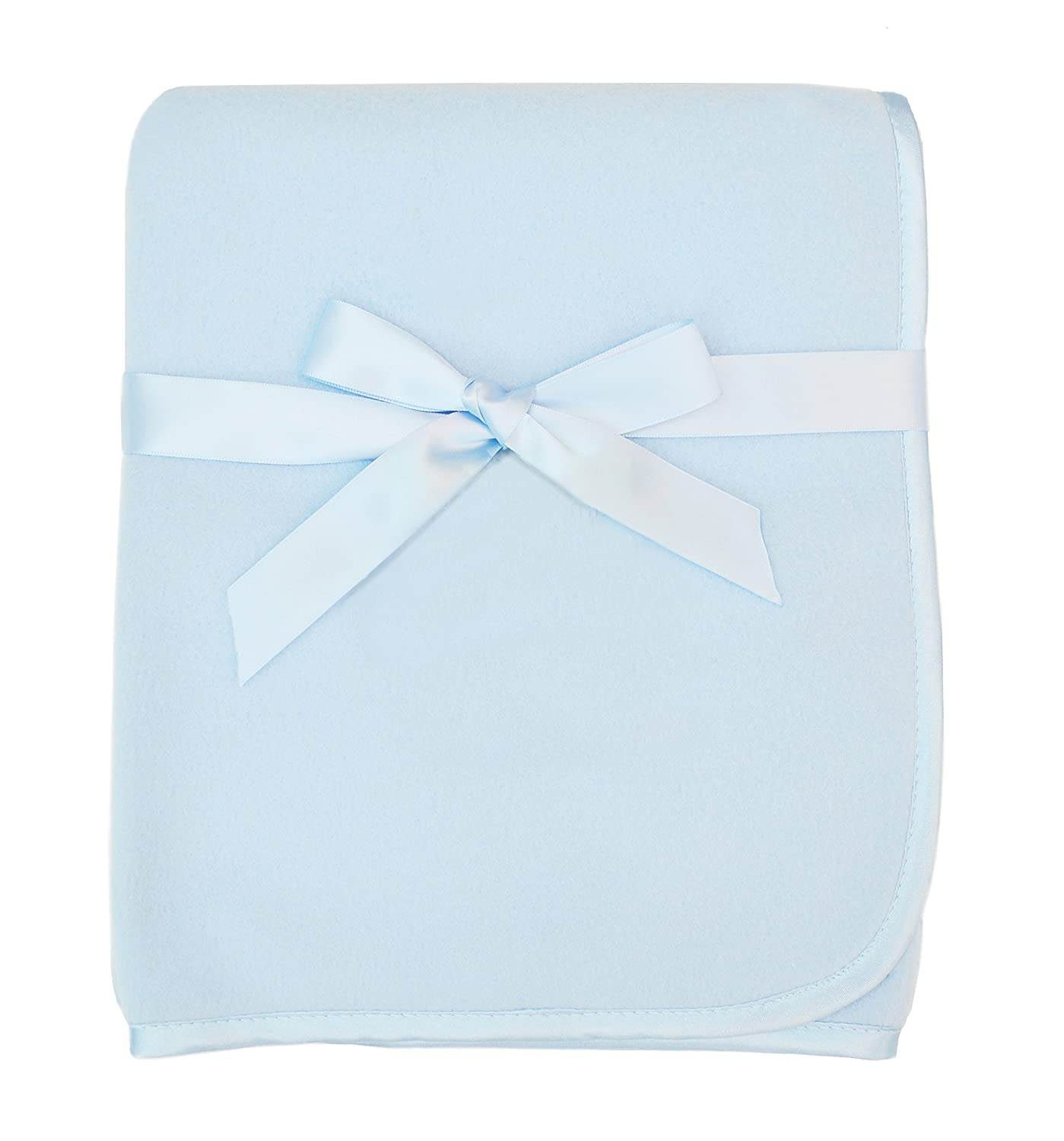 American Baby Company Fleece Blanket 30 x 30 White for Boys and Girls