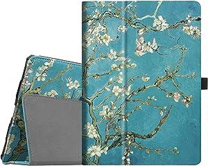 "Fintie Folio Case for iPad Air (3rd Gen) 10.5"" 2019 / iPad Pro 10.5"" 2017 - [Corner Protection] Premium PU Leather Smart Folio Cover with Pencil Holder, Auto Sleep/Wake, Blossom"