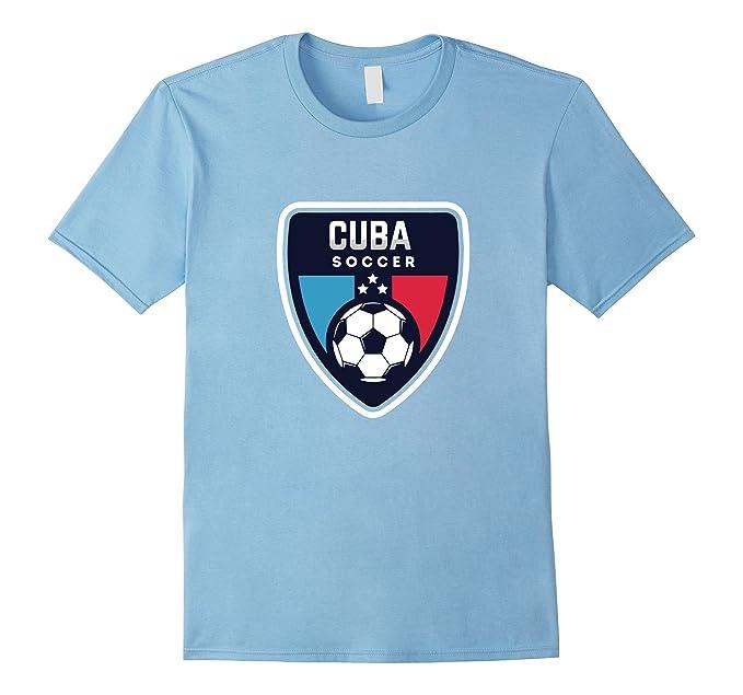 Mens Cuba Soccer t Shirt Camiseta Playera Futbol Cubano 2XL Baby Blue