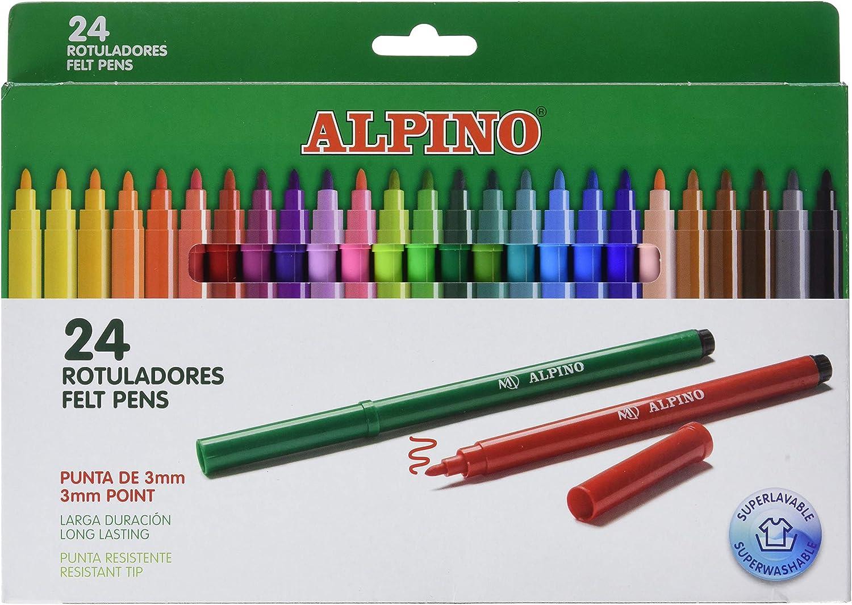 Alpino AR001003 - Rotuladores, 24 unidades