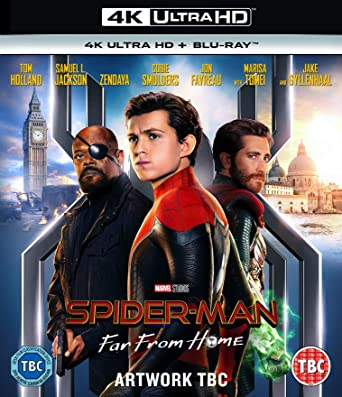 Amazon Com Spider Man Far From Home 4k Ultra Hd Blu Ray
