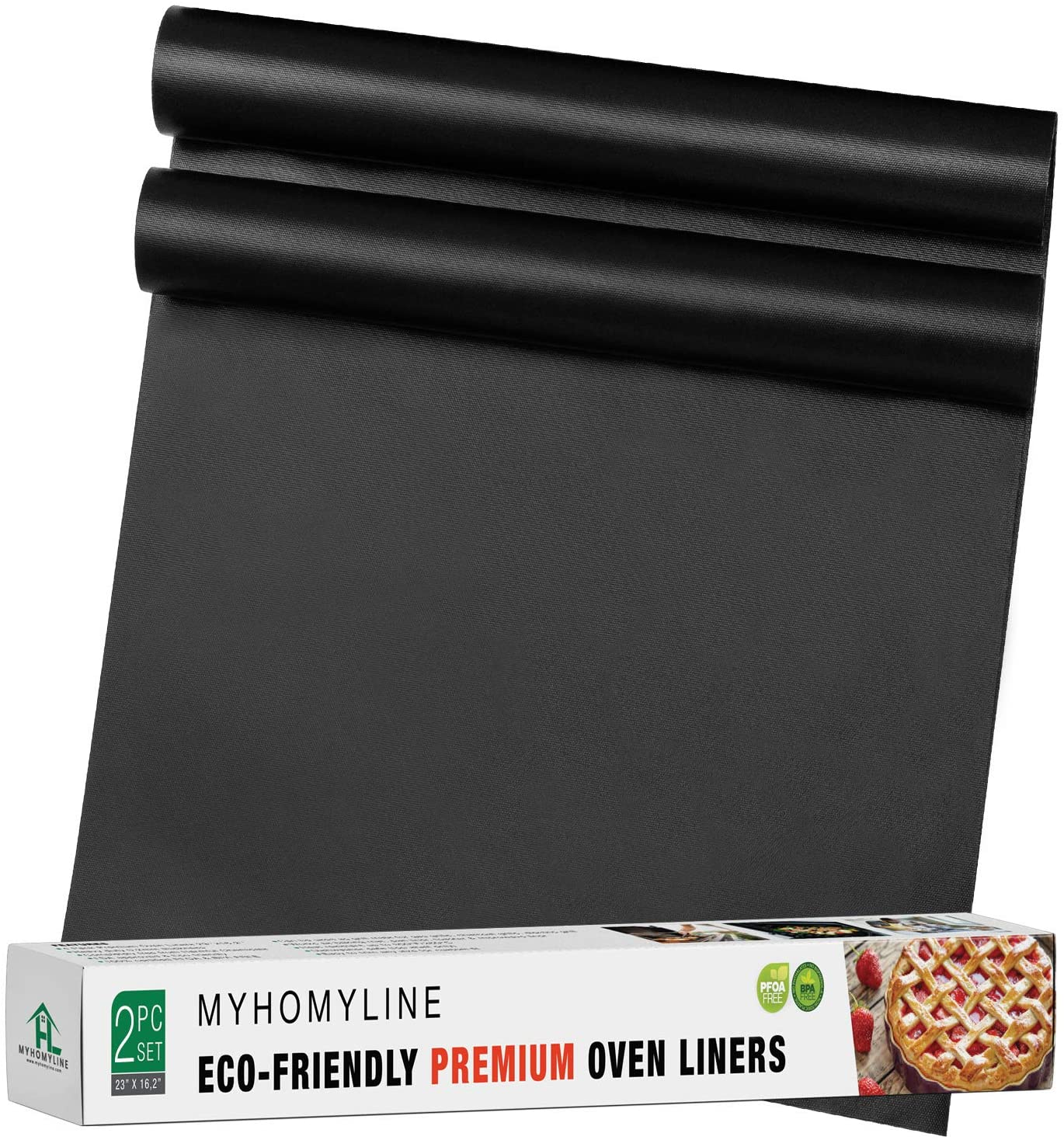 Oven Liners for Bottom of Electric Gas Oven - 2X Large Nonstick Stove-top Oven Liners - Heavy Duty Reusable Oven Floor Protector Liner - BPA Free - Heat Resistant Oven Bottom Mat - Oven drip mats