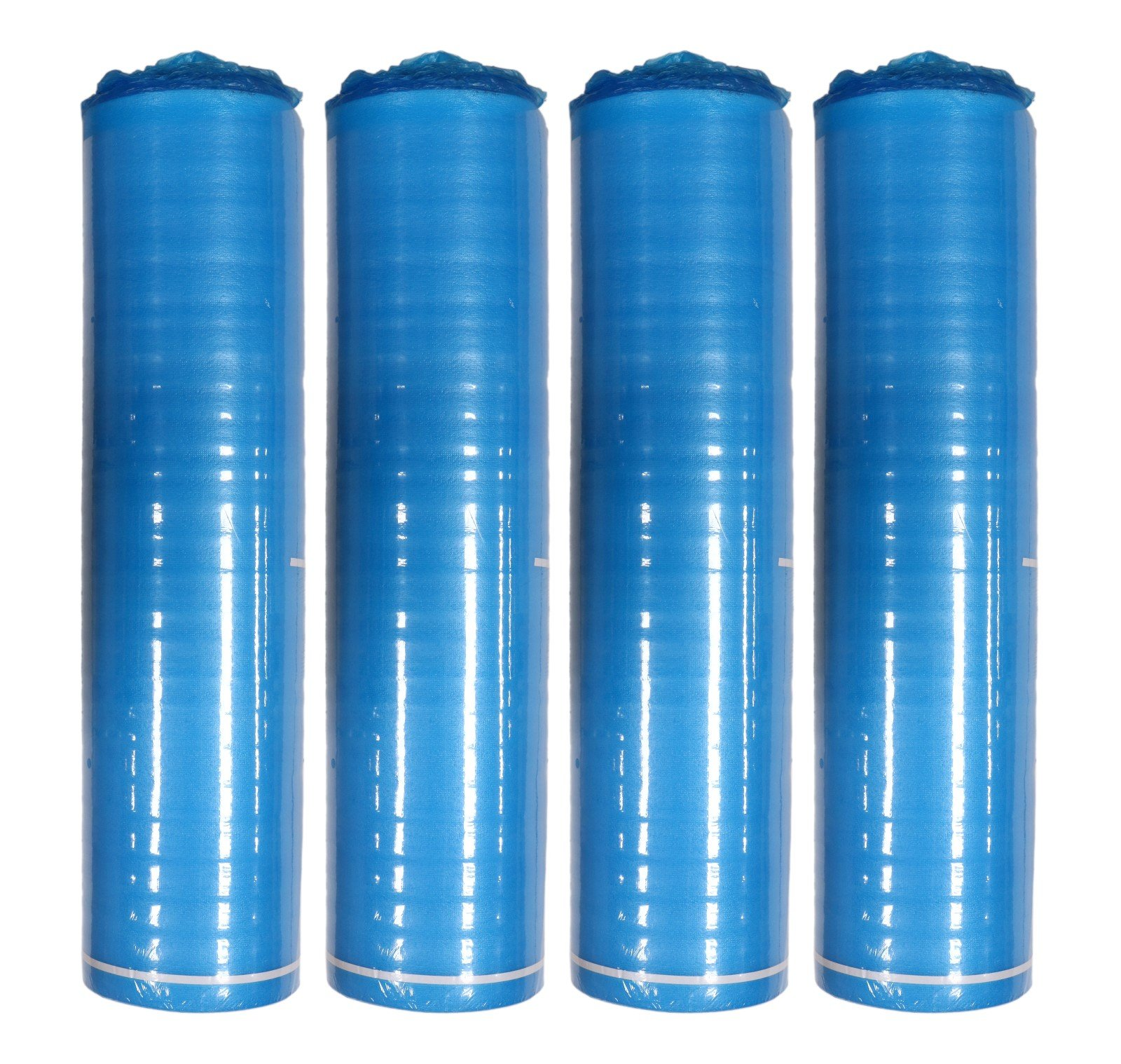 AMERIQUE Premium Floor Underlayment Padding with Moisture Barrier & Tape 3-in-1 Heavy Duty Blue Foam 3MM ROYAL BLUE, (800 SF Total, Bundle of 4 Rolls, 200 SF/Roll) Limited Time Promotion, 800 sq. ft.
