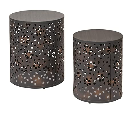 Amazon fice Star Middleton 2 Piece Round Accent Tables Set