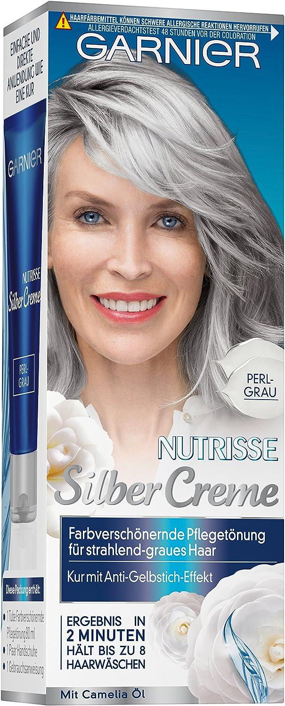 Crema Garnier Nutrisse para canas, color gris perla, 6 ...