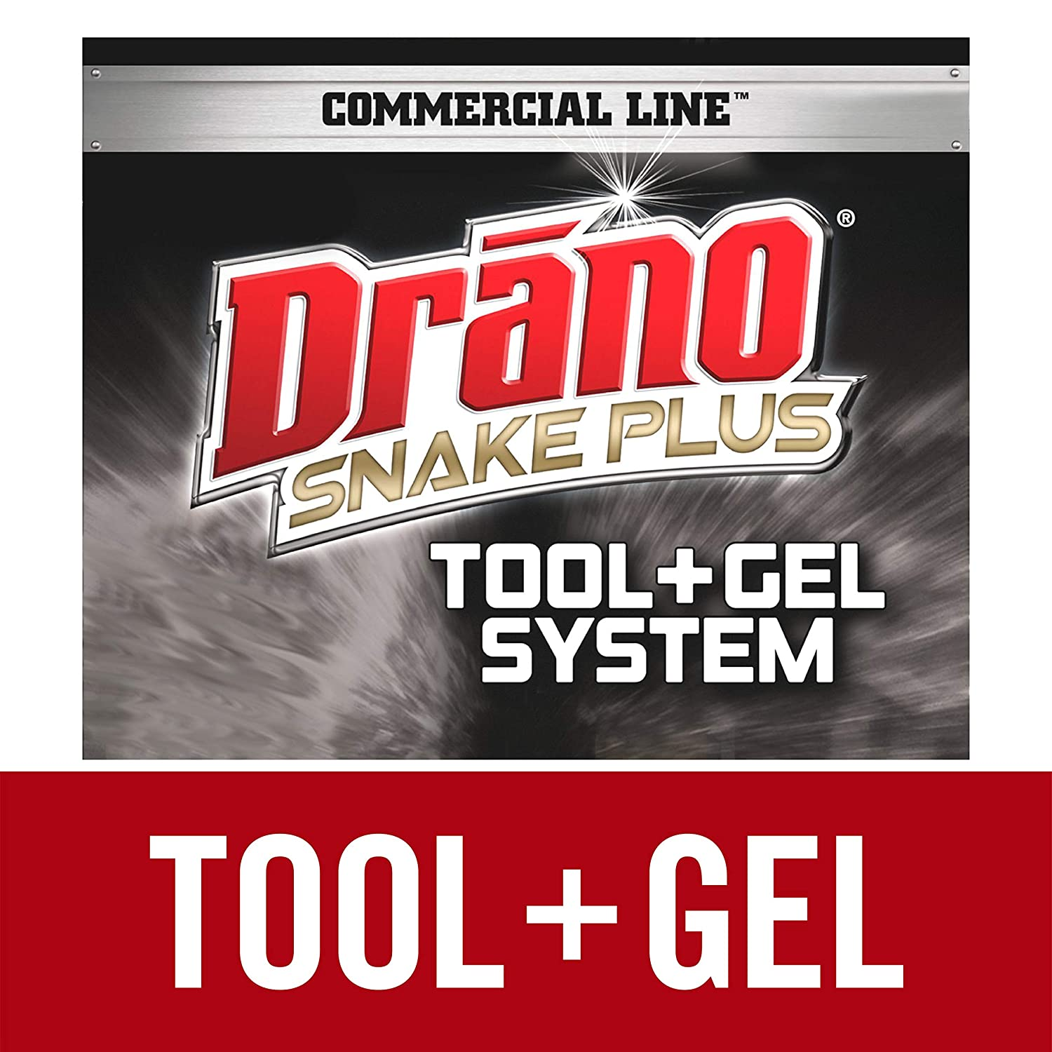 Drano Snake Plus Tool + Gel System, Commercial Line Windex 19800702410