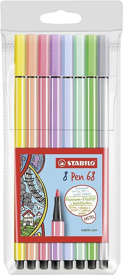 Rotulador STABILO Pen 68 - Estuche con 8 colores