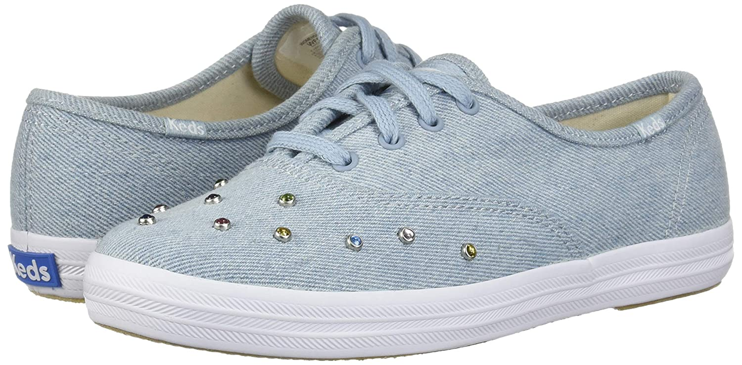 873a85196a0a4 Amazon.com | Keds Champion Starlight Denim Stud | Fashion Sneakers