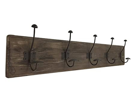 AVIGNON Rustic Coat Hook Vintage Wooden Coat Rack 38 Inches Wide And 7  Inches High