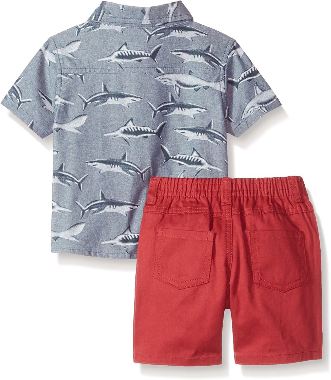 Nannette Baby Boys 3 Piece Set with A Button Down Shirt Tee and Short