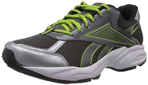 f966b6a46c50 Reebok Men s Linea Lp Grey and Silver Mesh Running Shoes - 6 UK  Buy ...