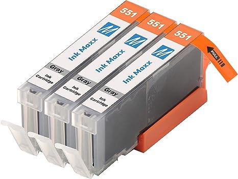Ink Maxx Paquete de 3 CLI-551XL Cartucho de Tinta Compatible para ...
