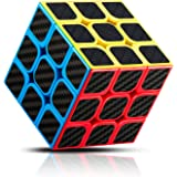 YIEASY ルービックキューブ スピードキューブ 立体 パズル キューブ ver.2.0 ポップ防止 回転スムーズ ステッカー 脳トレ ストレス解消 知育玩具 蛍光色 おもちゃ 世界基準配色 競技専用 3x3x3