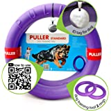 Puller Standard Two rings & id tag dogs Active toy for dogs Training toys for dogs Puncture resistant Ideal for medium and large breeds Dog rubber toys Dog training tool