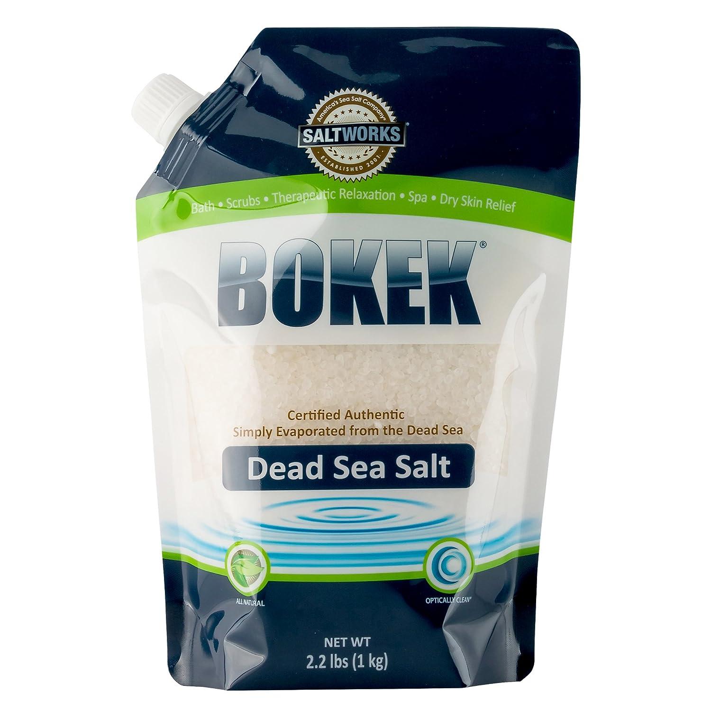 Bokek Dead Sea Salt, Coarse - 2.2 lb Bag Saltworks Inc