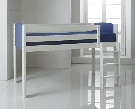 Shorty Narrow 2ft 6quot Single Cabin Mid Sleeper Bed W Straight Ladder